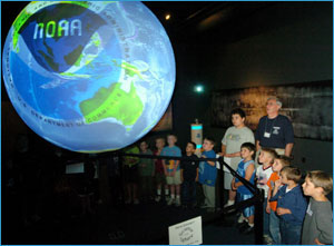 NOAA's Science on a Sphere Exhibit